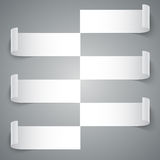Infographics 6 options curled white paper stripe Royalty Free Stock Photo