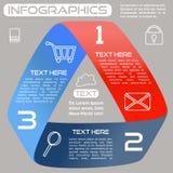 Infographics Options Infinite Ribbon Bright Three  Royalty Free Stock Photos