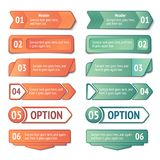 Infographics options and titles banners set Stock Images