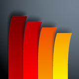 Infographics 4 options yellow, orange and red Royalty Free Stock Photos