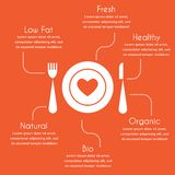 Infographics of organic and healthy food Stock Photos