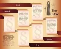 Infographics-orientering-laglig-lag-advokat-themis Arkivbilder