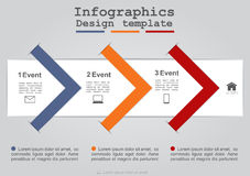 Infographics with paper arrows. Vector Royalty Free Stock Images
