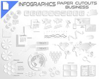 Infographics Paper Cutout Business EPS10 stock illustration
