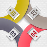 Infographics paper elements with numbered labels. Abstract infographics paper elements with numbered labels Stock Photo