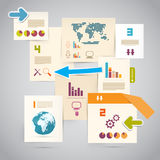 Infographics Paper Layout Stock Photos