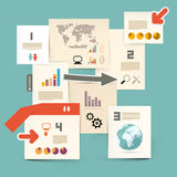 Infographics Paper Vector Layout Royalty Free Stock Photography