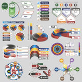 Infographics para las presentaciones del negocio Fotografía de archivo