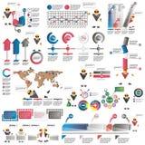 Infographics para las presentaciones del negocio Imágenes de archivo libres de regalías