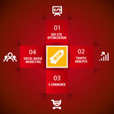 Infographics para o negócio da empresa da tecnologia Fotografia de Stock Royalty Free