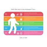 Infographics para recrutar ilustração stock