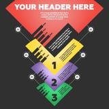 Infographics passo a passo Imagem de Stock Royalty Free