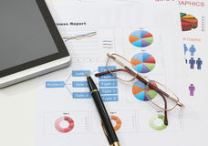 Infographics and pen Royalty Free Stock Images