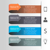 Infographics-Pfeilschablone Lizenzfreie Stockfotos