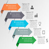 Infographics-Pfeilschablone Stockbild