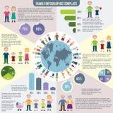 Infographics piano delle icone della famiglia illustrazione di stock
