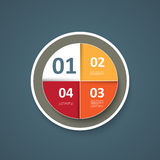 Infographics pie Royalty Free Stock Photography