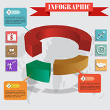 Infographics pie for web and mobile vector Royalty Free Stock Images