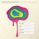 infographics Pigment der Zusammenfassung 3d vektor abbildung