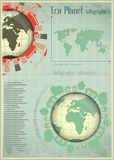 Infographics Planet Earth and Construction Stock Photography