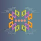Infographics - planificateur d'affaires Photo libre de droits