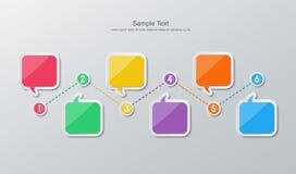 Infographics plano de la cronología del diseño stock de ilustración