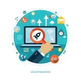 Infographics plano moderno del negocio del diseño Imagen de archivo