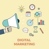 Infographics plat d'idées de démarrage de vente de Digital Images libres de droits