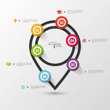 Infographics pointer. Vector design template Stock Image