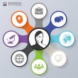Infographics pojęcie Sprzedaży promoci szablon Nowożytny styl wektor Obraz Royalty Free