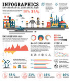 Infographics pollution, urban landscape, bad Stock Photo