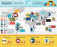 Infographics portabile di tecnologia illustrazione di stock