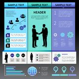 Infographics Presentation Layout Template Royalty Free Stock Image