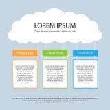 Infographics prezentaci szablon - 6 Fotografia Stock