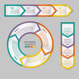 Infographics. Process chart module. Stock Image