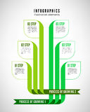 Infographics process Stock Photography