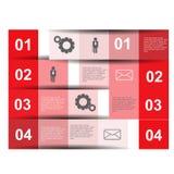 Infographics projekt Obraz Stock