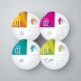 Infographics projekta szablon Zdjęcia Stock