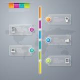 Infographics projekta szablon Obraz Royalty Free
