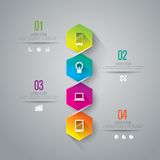 Infographics projekta szablon Fotografia Stock