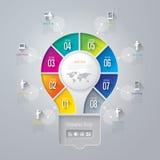 Infographics projekta szablon Obrazy Royalty Free