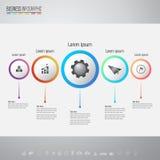Infographics projekta szablon z ikonami ustawiać Zdjęcia Royalty Free