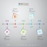 Infographics projekta szablon z ikonami ustawiać Zdjęcia Stock