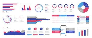 Infographics projekta wektor i marketingowe ikony możemy używać dla obieg układu royalty ilustracja