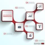 Infographics projekta wektorowy szablon royalty ilustracja
