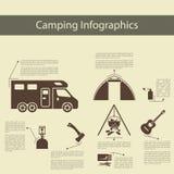Infographics que acampa Imagen de archivo
