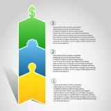 Infographics que crea un producto de la idea a Fotos de archivo
