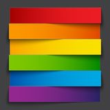 Infographics rainbow paper stripe banners with Royalty Free Stock Photography