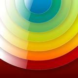 Infographics rainbow shiny round paper shapes Stock Images