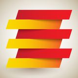 Infographics red and orange paper rectangle Stock Photos